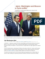 In Sign of U.S. Alarm, Washington and Moscow Begin Talks Over Syria Conflict