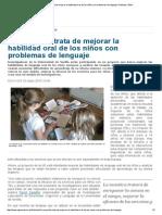 La Habilidad Oral de Los Niños Con Problemas de Lenguaje _ Noticias _ SINC