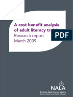 A Cost Benefit Analysis of Adult Literacy Training - NALA Research Report March 2009