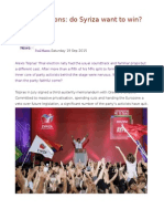 Greek Elections Do Syriza Want to Win