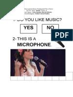 Atividade sobre Music para aluna com sindrome de down
