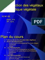 Reproduction et Systématique végétale