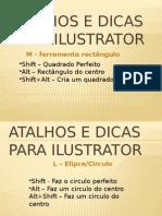 atalhos edicas para Adobe ilustrator