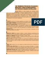 DICCIONARIO DE TERMINOS TÉCNICOS UTILIZADOS