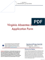 Virginia Absentee Ballot Application