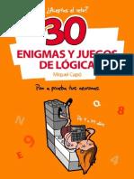 30 Enigmas y Juegos de Logica - Miquel Capo