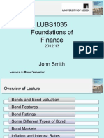 LUBS1035 Lecture4 Bond Valuation