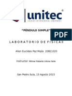 Informe Péndulo Simple Lab.fisca II
