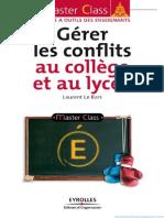 Gérer Les Conflits Au Collège Et Au Lycée - Eyrolles