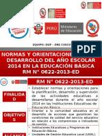 Orientaciones Reajsute PAT 2014