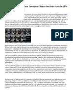 diez Aplicaciones Para Gestionar Redes Sociales Asociación INDISMATIC