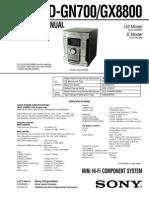 HCD-GN700, GX8800