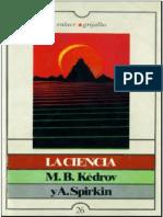 La Ciencia Kedrov Spirkin
