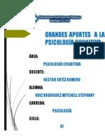 Aportes a La Psicología Cognitiva
