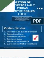 GESTIÓN DE PROYECTOS I+D Y AYUDAS INSTITUCIONALES I+D+I