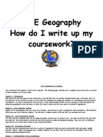 GCSE Edexcel Geography Coursework Guide