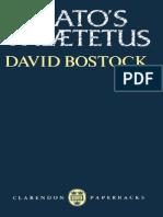 Bostock-Plato's Theaetetus (Clarendon Paperbacks) (1991)