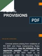 RULE VIII Penal Provisions1