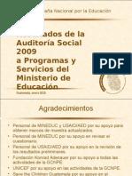 Auditoria Social 2009 y Va