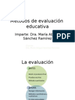 Métodos de Evaluación Técnicas e Instrumentos