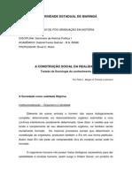 A Sociedade Como Realidade Objetiva - Relatório.