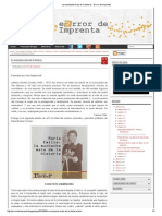 La Muchacha Mala de La Historia - Errror de Imprenta