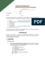 PORTAFOLIO Instructivo de Evaluación IV Nota