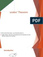 1 Stokes Theorem