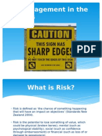 risk management in the outdoors  1