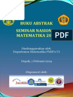 Buku Abstrak SNM 2014