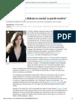 """""""La Detección de La Dislexia Es Crucial_ Se Puede Resolver"""" _ Sociedad _ EL PAÍS"""