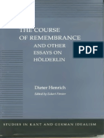 Dieter Henrich - The Course of Rememberance and Other Essays on Holderlin