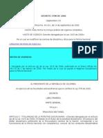 Decreto 1798 de 2000
