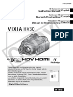 Vixia Hv30 Instruction Manual