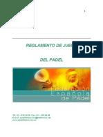 Reglamento de Juego Del Padel