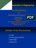 Nanotech in Mechanical Engineering