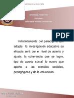 Reflexión sobre Paradigmas en la Educación