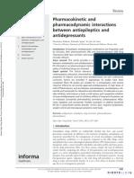 Interacciones Farmacologias de Anticonvulsivantes y Antidepresivos