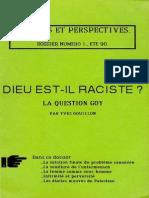 Gouillon Yves - Dieu Est-il Raciste