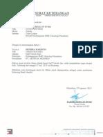 Surat Keterangan Kerja Hendra