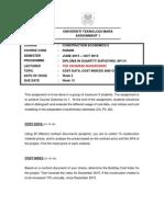Assignment 1 - Jun 2015