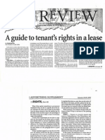A Guide to Tenant's Rights in a Lease