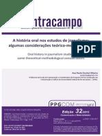 A História Oral Nos Estudos de Jornalismo Algumas Considerações Teórico-metodológicas