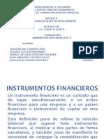 PRESENTACION INSTRUMENTOS FINANCIEROS