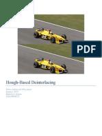 Hough Based Deinterlacer