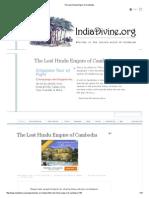 The Lost Hindu Empire of Cambodia