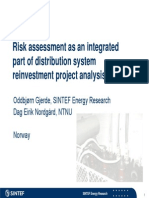 Risk Assessment as an Integrated Part of Distribution System Reinvestment Project Analysis