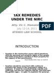 TAX REMEDIES-NIRC-2011-ATENEO.ppt
