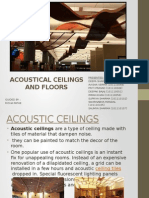 Acoustical Ceilings and Floors