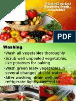 Preparing Fresh Vegetables PPT